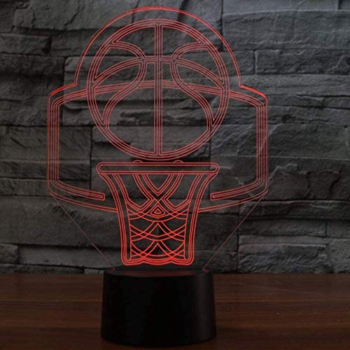 3D Lampe USB 7 Farbwechsel Basketballkorb Modell LED 3D Nachtlicht Tisch Schreibtischlampe Home Decor Kreative Nachtlampe