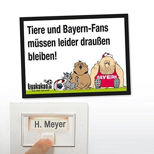 Klingel Abwehr-Schild vor Bayern-Fans | Achtung Dortmund-, S04- & alle Fußball-Fans, Dieses witzige Haus-Tür-Schild sorgt für klare Verhältnisse