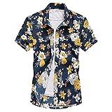 hddnzh camicia da uomo manica corta hawaiana - con stampa fiori camicia estiva bohemia beach quick dry camicetta casual da uomo abbottonata per feste da festa camicie eleganti unisex, 3xl