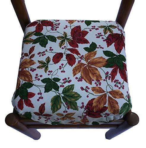 Cojines para sillas de cocina – Juego de 6 piezas – con solapas – con cremallera – Tejido de algodón pesado – Relleno multiestra-art 65