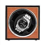 WENZHE Supporti per Orologio Alimentazione USB Black Mechanical Watch Windows Box Motor Shaker Mini Watch Avvolgitore Asta Display Monili Deposito Organizzatore(Color:Nero)