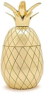 W&P MAS-PINEG-12 Pineapple Tumbler, Craft Cocktail Glass, Mid Century Modern Designer Bar Accessories, Gold, 12 oz
