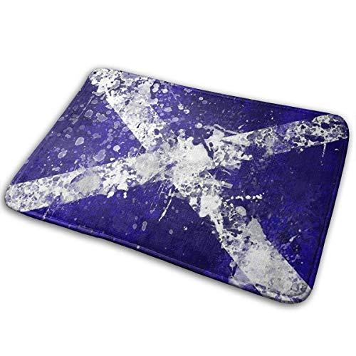 Zerbino da bagno con bandiera scozzese, antiscivolo, per ufficio, cucina, bagno, 80 x 50 cm