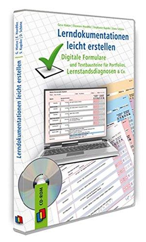 Lerndokumentationen leicht erstellen: Digitale Formulare und Textbausteine für Portfolios, Lernstandsdiagnosen & Co.