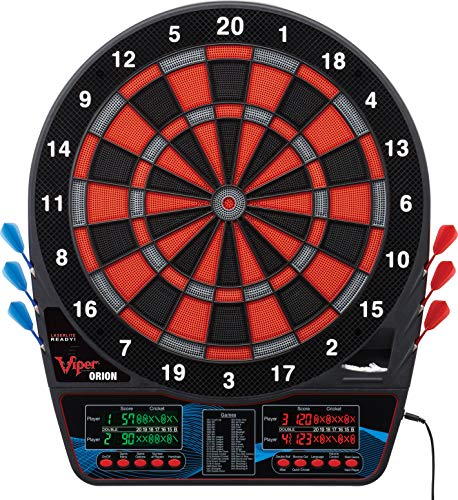 Viper Orion Electronic Dartboard, Two Large Scoreboards, Dual Color LCD covid 19 (Commercial Electronic Dartboard coronavirus)