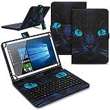 Tablet Hülle kompatibel für LNMBBS P40 10.1 Zoll Tasche Tastatur Keyboard QWERTZ Schutzhülle Cover Standfunktion USB Schutz Case, Farben:Motiv 5