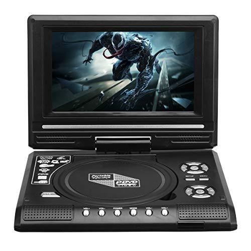 YONGYAO 7.8 Inch Programa de TV portátil Juego 270 Grados de rotación Coche Reproductor de DVD