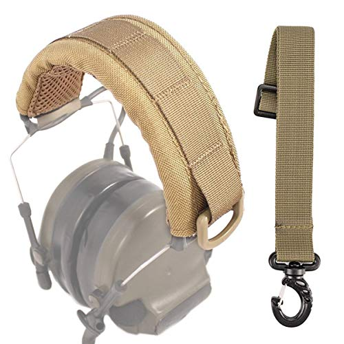 DETECH Outdoor Modular Headset Cover Molle Headband for General Tactical Earmuffs Microphone Hunting Shooting Headphone Cover