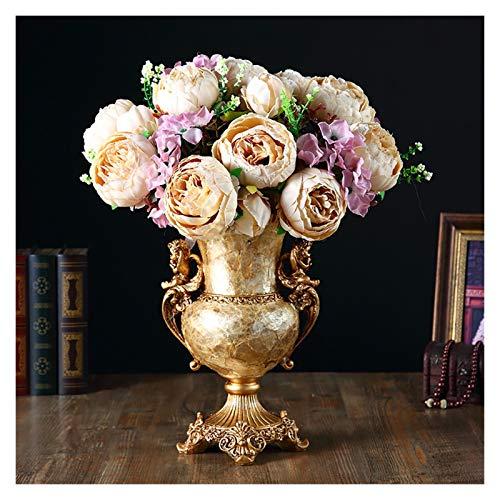 MESURE Vasen deko Kernstück Vase for Tischdekoration, Gold Einzigartige dekorative Blumenvase, kreative Vase Dekoration Ornamente, for Hochzeitsfest-Dekoration