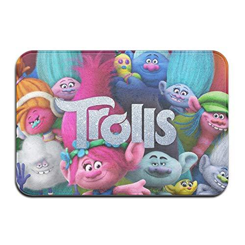 Custom made Trolls - Alfombra antideslizante de microfibra para baño, ultra suave y absorbente de agua, lavable a máquina, 40,6 x 60,9 cm