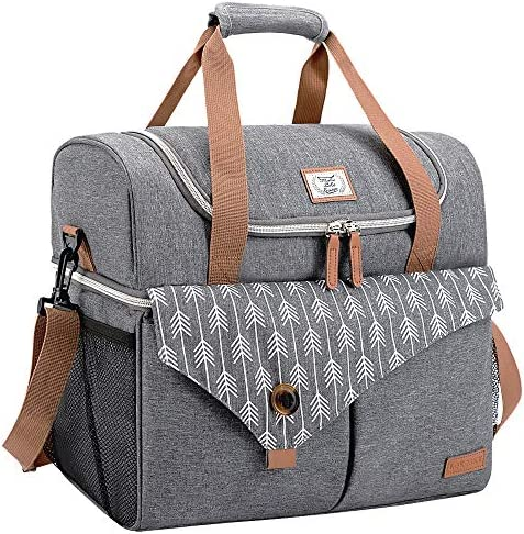 Lekesky Cooler Bag Insulated Family Picnic Bag Large Leakproof Cooler Double Decker Camping product image