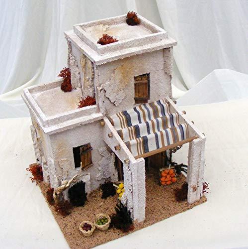 De Sisinno Minareto con Tenda e Bottega Frutta H26x22x23 cm