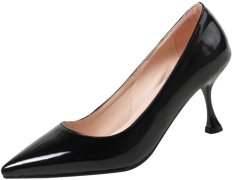 Ghapwe Women's Pointed Toe Elegant High Heel Pumps shoes Beige 8.5 M US