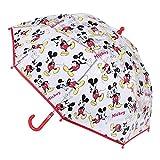 CERDÁ LIFE'S LITTLE MOMENTS- Paraguas Burbuja Manual de Mickey Mouse - Licencia Oficial Disney, Color Negro (2400000614)