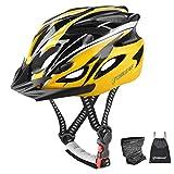 Casco de Bicicleta, Bicicleta Casco Adulto , Visera y Forro Desmontable montaña , Casco de Ciclismo BMX equitación Casco Bici Hombres y Mujeres