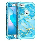 Casetego for iPhone 6S Plus Case,iPhone 6 Plus Case,Heavy Duty Shockproof 3 Layer Hard PC+Soft Silicone Bumper Rugged Anti-Slip Protective Cases for Apple iPhone 6 Plus/6S Plus,Blue Marble