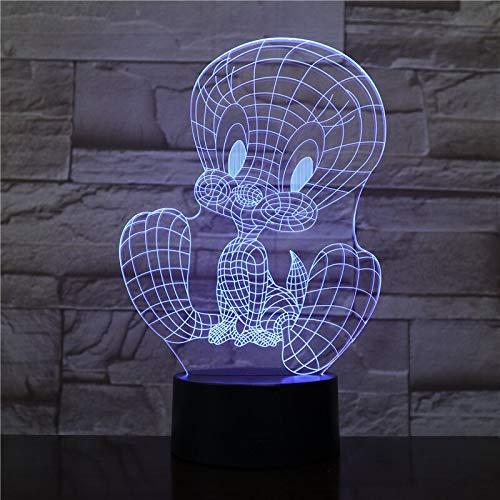 Luz de Noche LED USB de dibujos animados de Acción 3D Lámpara de Mesa Decoración de Dormitorio Regalo