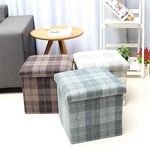 Inicio Cajas de Almacenamiento de Estilo nórdico Docloy Plegable al por Mayor de cestos de Almacenamiento de Coches Square Taburete Muebles de Dormitorio (Color : Brown)