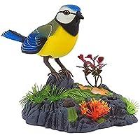 SUGE 音声制御 電気玩具 シミュレーション バード キッズ子供のサウンドペット玩具 デコレーションギフト 電気誘導鳥