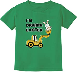 Tstars - I'm Digging Easter Gift for Tractor Loving Boys Toddler Kids T-Shirt