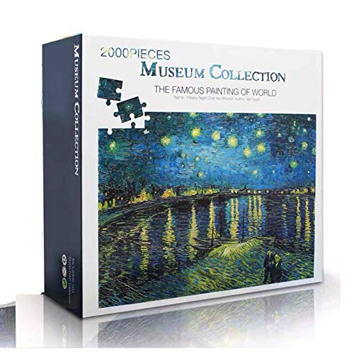 2000 Pieces Starry Night Over The Rhone Puzzles for Adults Jigsaw Puzzle DIY Learning Education Decompression Toys Toy Gift for Creative Gift Home Decor