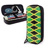 Bolsa De Lápiz Jamaica Bandera De Jamaica El Caribe Estuche Escolar Impermeable Caja Papelería Para Oficina Adolescente Escritorio
