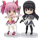 TAMASHII Nations Bandai Figuarts Mini Kaname Madoka Puella Magi Madoka Magica & Akemi Homura Set of 2