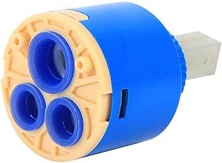 Zetiling Ceramic Disc Cartridge,Kitchen Waterfall Ceramic Disc Faucet Cartridge Replacement 35/40mm Dia Square Single Lever Faucet Ceramic Disc Cartridge Blue (40mm)