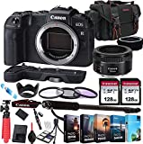 Canon EOS RP Mirrorless Camera with EF 50mm f/1.8 STM Prime Lens + 256GB Memory + Extension Grip + Photo Editing Software + Commander Optics Accessory Bundle (27pcs)