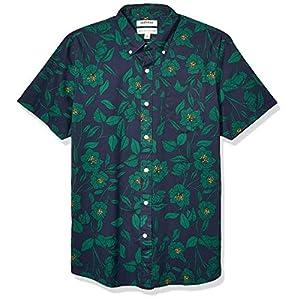 Amazon Brand – Goodthreads Men's Standard-Fit Short-Sleeve Printed Poplin Shirt