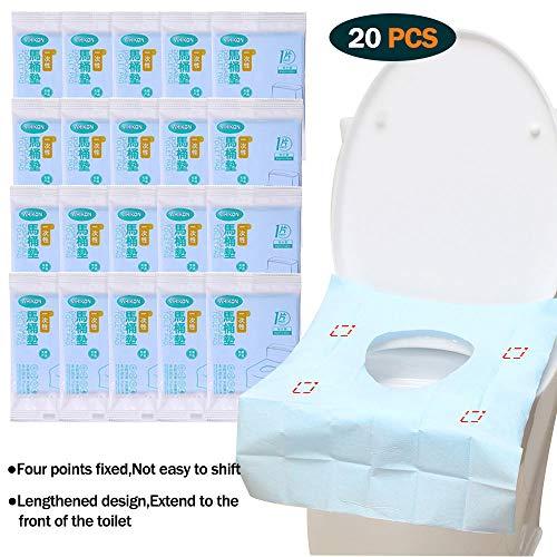 ARTKIVA - 20 pcs Einweg Toilettenauflagen Toilettenbezüge WC Toilette Auflage Toiletten Sitzbezug WC-Sitz Matte Toilettenpapier Pad Kinder und Erwachsene Super für Unterwegs Klo