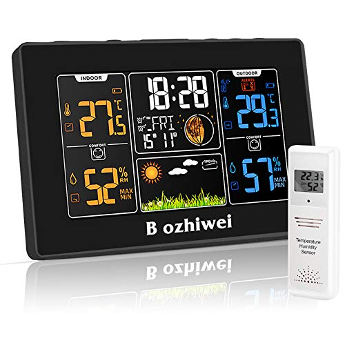 Wireless Weather Station, Digital Color Weather Station with Outdoor Sensor, Weather...