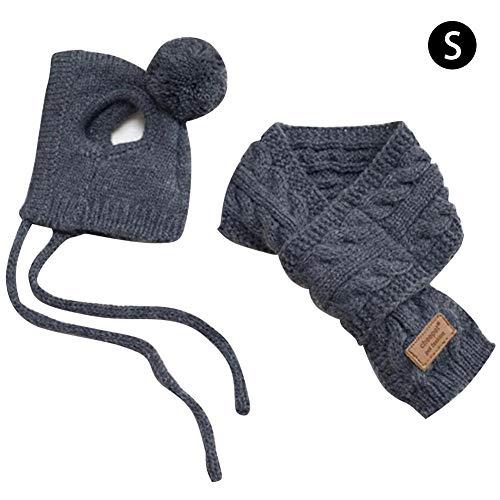 AIflyMi Set mit Schal und Mütze für Hunde und Katzen New pet Scarf Wool Cap with Scarf