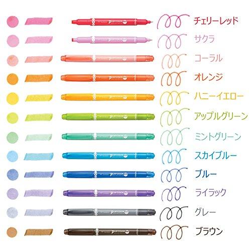 トンボ鉛筆水性サインペンプレイカラードット12色セットGCE-011
