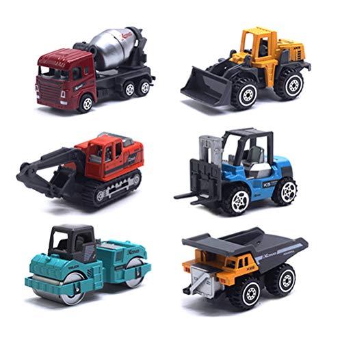 Ahagut Coches de Juguete excavadoras Camiones 6 Piezas vehículos de construcción vehículos excavadoras de construcción Juguetes para niños niños niñas