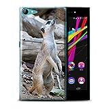 Handy Hülle kompatibel mit Wiko Highway Star 4G Wilde Tiere Erdmännchen Transparent Klar Ultra Dünne Handyhülle Hülle Cover