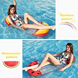 2PACK Pool Float Hammock,Inflatable Floating Pool Lounger with Pillow,Water Hammock Rafts Chair, Swimming Ring Pool Toy for Adults/Kids, Pool Float Bed for Summer Vocation,Lightweight/Portable Travel