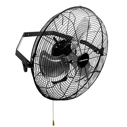 KEN BROWN 18 Inch High Velocity Industrial Wall Fan 4012CFM 3 Speed for Industrial, Commercial, Residential, and Shop Use - ETL Safety Listed