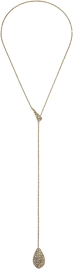 Alexis Bittar - Crystal Encrusted Drop Lariat Necklace