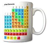 Tazza con tavola periodica degli elementi, motivo chimico, per studenti e insegnanti, idea regalo retrò