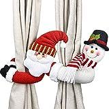 Sunnysam Christmas Curtain Tieback, decoración de árboles de Navidad y decoración de Ventanas, decoración de Doble propósito, muñeca de Dibujos Animados de Navidad, Cortina, Dormitorio, Sala de Estar