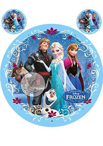 Frozen Die Eiskönigin, Essbares Foto für Torten, Tortenbild, Tortenaufleger Ø 20cm - Super Qualität, 0103w