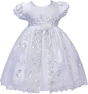 zhxinashu Short Sleeve Princess Tutu Dresses Christening Gowns Newborn Party Clothing