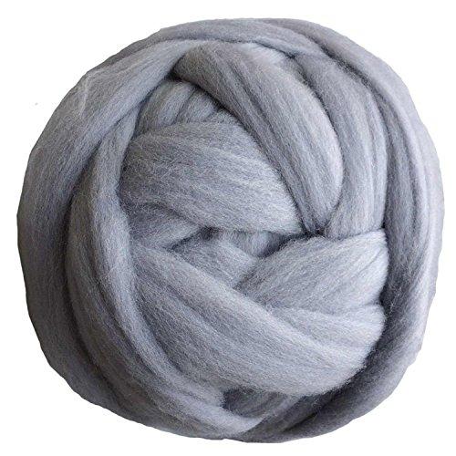 Giant Merino Wool Yarn Chunky Arm Knitting Super Soft Wool Yarn 7lbs Grey Bulky...