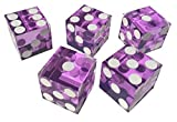 5 x FOIL SEALED * PINK * NEW PERFECT 19MM PRECISION CASINO DICE / CRAPS STUNNING
