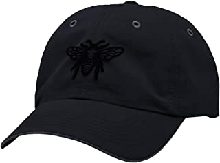 Custom Richardson Running Cap Black Flying Bee Embroidery Hat Hook & Loop