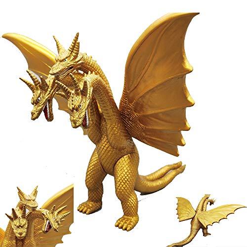 ZHAOHUIFANG Quitola Modell Godzilla Monster Dinosaurier DREI-Köpfige Drache-Spielzeug (15cm Höhe)