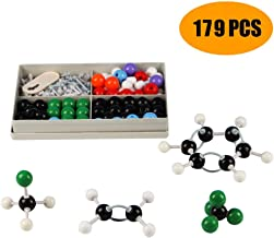 Chemistry Molecular Model Kit, AMYYMA 179 PCS Organic Inorganic Biochemistry Model Set with Atoms, Bonds and Instructional Guide for Student,Teachers,Young Scientists