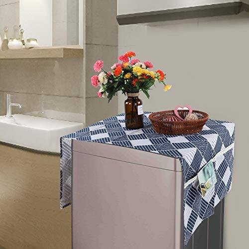 Material duradero a prueba de polvo para frigorífico, tela multiusos para frigorífico, para el hogar (55 x 130 cm, 51 x 53 cm)
