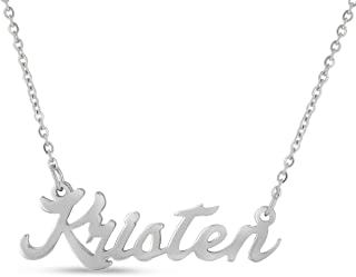 Personalized Name Necklace Pendant in Silver Tone, 100 Names Available for Immediate Purchase!